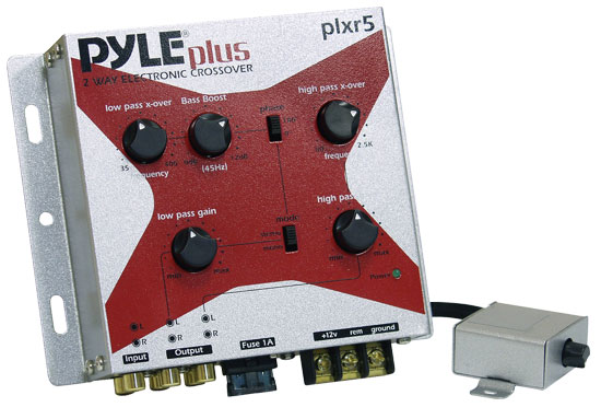 Pyle - PLXR5 , On the Road , Crossovers , 2-Way Electronic Crossover Network With Remote Subwoofer Level Control
