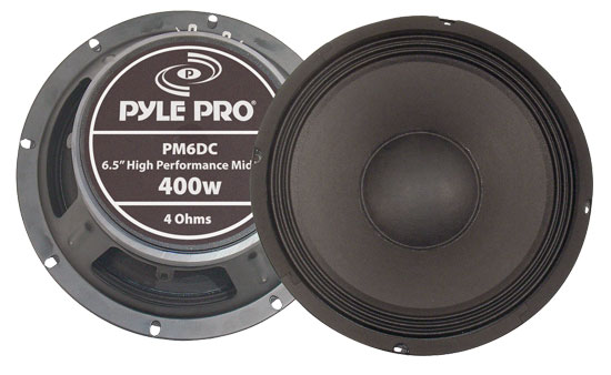 Pyle - PM6DC , DJ Equipment , Midbass/Midrange Speakers/Woofers  , 400 Watts 6.5'' High Power High Performance Midbass