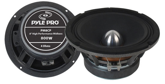 Pyle - PM8CP , DJ Equipment , Midbass/Midrange Speakers/Woofers  , 8'' High Power High Performance Midbass