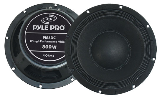 Pyle - PM8DC , Sound and Recording , Subwoofers - Midbass , 8'' High Power High Performance Midbass