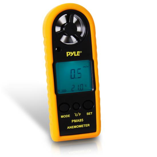 Pyle - PMA85 , Tools and Meters , Temperature - Humidity - Moisture , 2-in-1 Digital Anemometer & Thermometer - Air Velocity (Wind) and Temperature Meter