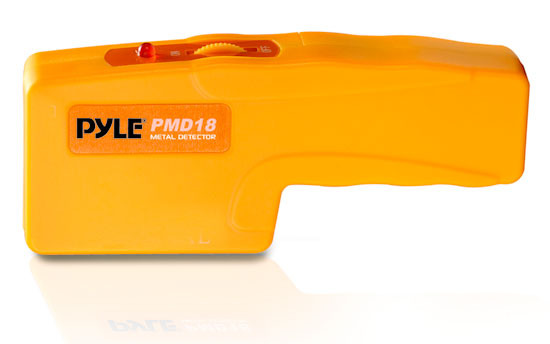 Pyle - PMD43 , Tools and Meters , Metal Detectors - Stud Detectors , Handheld Metal/Voltage Detector W/ LED And Sound Alert, Sensitivity Adjustment