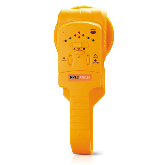 Pyle - PMD24 , Tools and Meters , Metal and Stud Detectors , Handheld Stud / Metal/ Voltage Detector W/ Sensitivity Adjustment, Center Location, LED And Audible Alerts