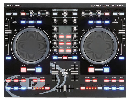 Pyle - PMIDI200 , Sound and Recording , Mixers - DJ Controllers , Professional Digital MIDI Controller