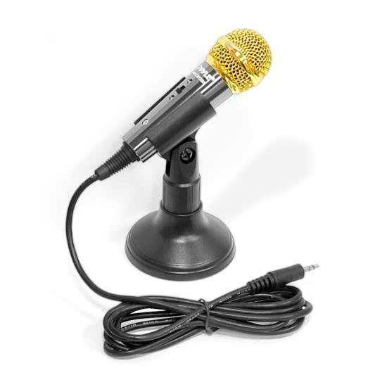 Pyle - PMIKC20BK , DJ Equipment , Microphones , Vocal Condenser Microphone For Computer , Condenser Karaoke  Microphone , or PA Amplifier (Black Color)