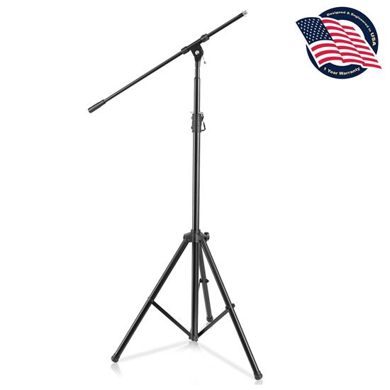 Pyle - PMKS56 , Musical Instruments , Mounts - Stands - Holders , Sound and Recording , Mounts - Stands - Holders , Heavy-Duty Tripod Boom Microphone Mic Stand, Height Adjustable, Boom Extendable