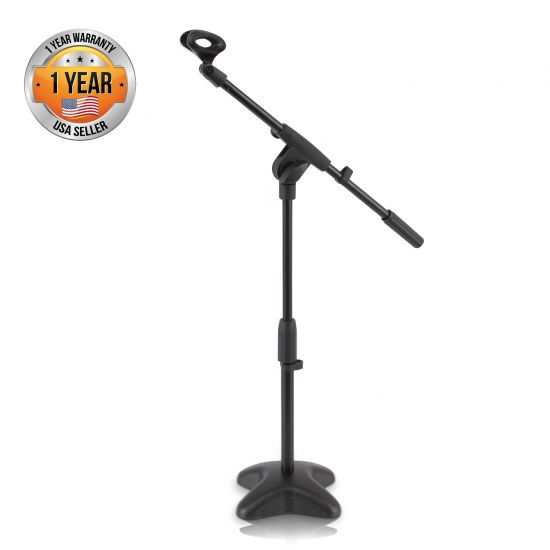Pyle - PMKS7 , Musical Instruments , Mounts - Stands - Holders , Sound and Recording , Mounts - Stands - Holders , Universal Compact Microphone Stand Mic Mount Holder, Height & Boom Extension Adjustable