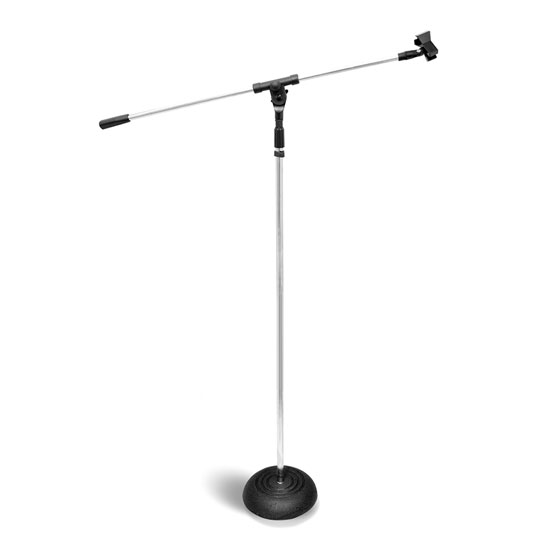 Pyle - PMKS9 , DJ Equipment , Stands , Heavy Duty Compact Base Boom Microphone Stand