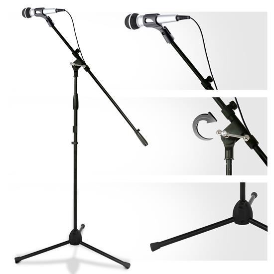 Pyle - PMKSPAD1 , Musical Instruments , Mounts - Stands - Holders , Sound and Recording , Mounts - Stands - Holders , Multimedia iPad and Microphone Stand - Adjustable to Fit All iPad Models