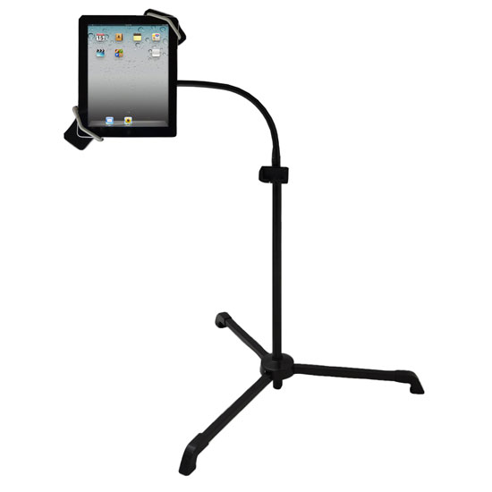 Pyle - PMKSPAD2 , Musical Instruments , Mounts - Stands - Holders , Sound and Recording , Mounts - Stands - Holders , Universal Tablet PC/Android/Kindle/iPad Floor Stand For Music, Reading, Bedside Use,Fitness Use
