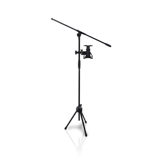 "Pyle - PMKSPAD5 , DJ Equipment , Stands , 2-in-1 Microphone and Tablet Stand with Adjustable Height for all Tablets 4.7"" to 8.7"" Tall"