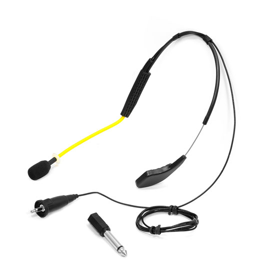 Pyle - PMKWR4 , Sports & Outdoors , Waterproof Microphones , Flexible Waterproof Headset Microphone for Exercise/Fitness, Omni-Directional for Standard 3.5mm Systems