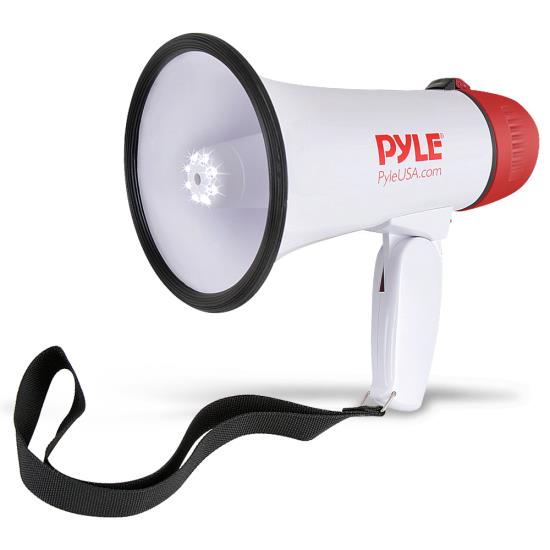 Pyle - PMP37LED , Home and Office , Megaphones - Bullhorns , Sound and Recording , Megaphones - Bullhorns , Mini Compact Megaphone Bullhorn with Siren Alarm and LED Lights