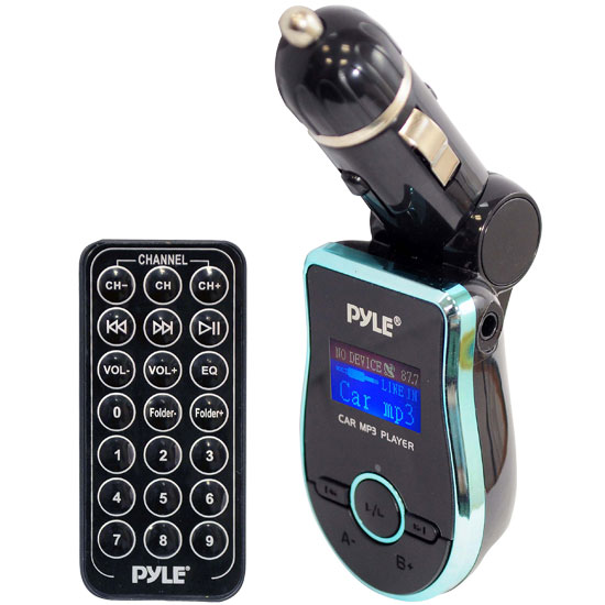 Pyle - PMP3A2 , On the Road , Plug-in Audio Accessories - Adapters , Mobile SD/USB/MP3 Compatible Player w/ Built-In FM Transmitter