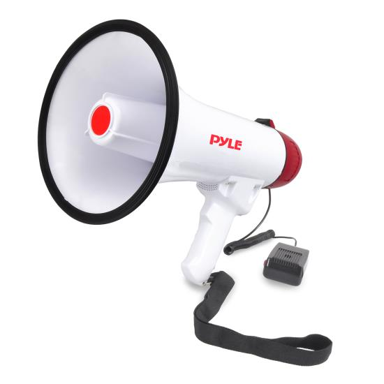 Pyle - PMP40 , Home and Office , Megaphones - Bullhorns , Sound and Recording , Megaphones - Bullhorns , Megaphone / Bullhorn with Plug-in Handheld Mic, Automatic Siren and Adjustable Volume Control