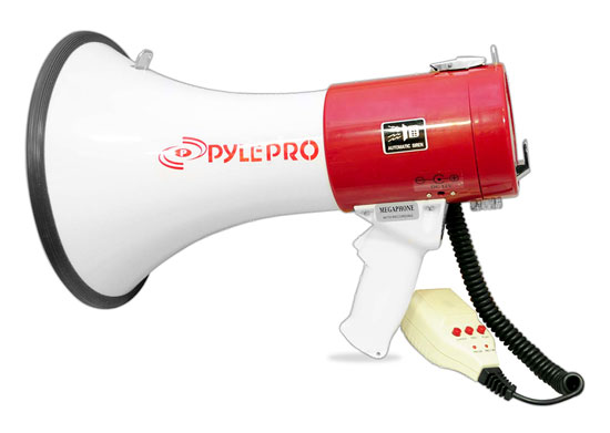 Pyle - PMP55R , Sound and Recording , Speakers , Professional Piezo Dynamic Megaphone With Recording Function & Rechageable Batteries