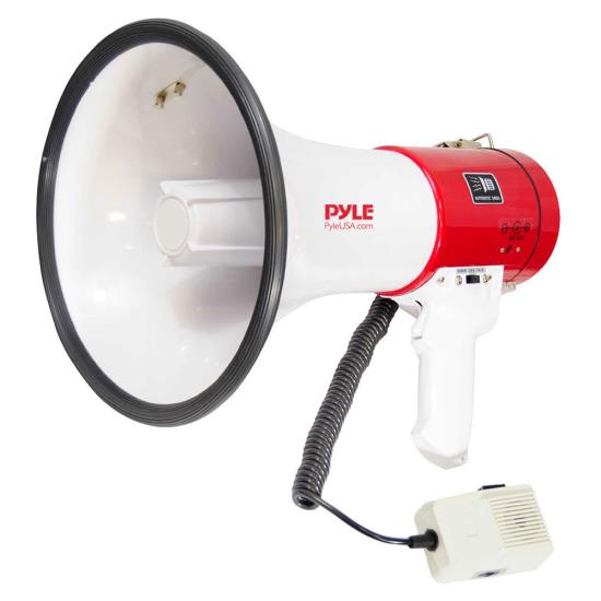 Pyle - PMP58U , Home and Office , Megaphones - Bullhorns , Sound and Recording , Megaphones - Bullhorns , Megaphone Speaker with Talk & Siren Modes, Handheld Microphone, MP3/USB Reader, Aux (3.5mm) Input