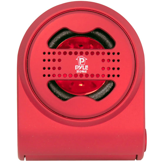 Pyle - PMS7R , Home Audio / Video , i-Pod - MP3 Mini Speakers , Bass Expanding Chainable Rechargeable Mini Speakers For IPod/IPhone/MP3/Computer (Red)