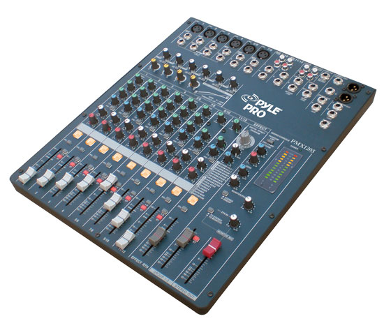 Pyle - PMX1205 , DJ Equipment , DJ Mixers , 12 Channel Digital DSP Console Mixer With Built-in Sound Effects