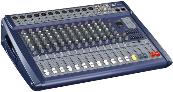 Pyle - PMX1208 , Sound and Recording , Mixers - DJ Controllers , 12 Channel 1000 Watts Amplified Ultra Low Noise Stereo digital Effect  Mixer With DSP