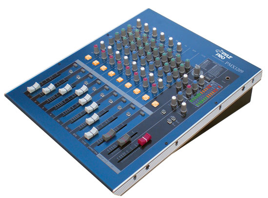 Pyle - PMX1209 , DJ Equipment , DJ Mixers , 12 Channel Professional Digital (DSP) Console Mixer