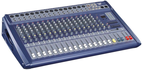 Pyle - PMX1608 , Sound and Recording , Mixers - DJ Controllers , 16 Channel 1200 Watts Ultra Low Noise Stereo digital Effect  Mixer With DSP