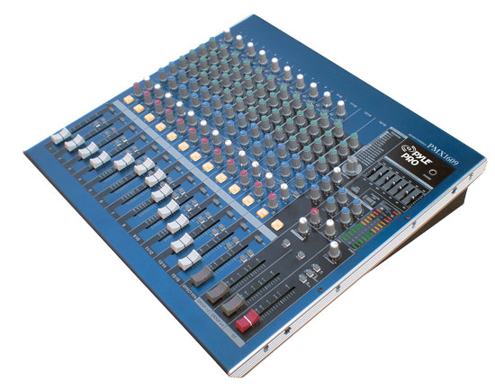 Pyle - PMX1609 , Sound and Recording , Mixers - DJ Controllers , 16 Channel Professional Digital (DSP) Console Stereo Mixer