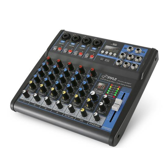 Pyle - PMXU63BT , Sound and Recording , Mixers - DJ Controllers , 6-Ch. Bluetooth Studio Mixer - DJ Controller Audio Mixing Console System