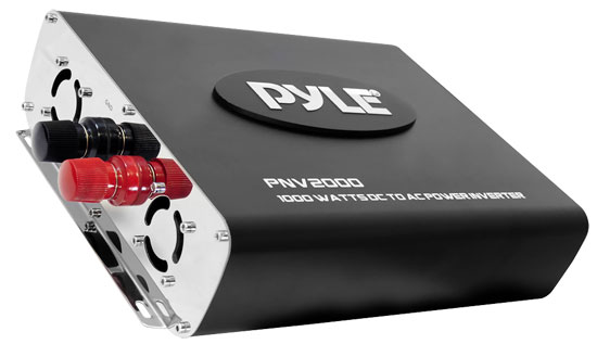 Pyle - PNV2000 , On the Road , Power Supply - Converters , Plug In Car 2000 Watts 12v DC to 115V AC power inverter with modified sine wave