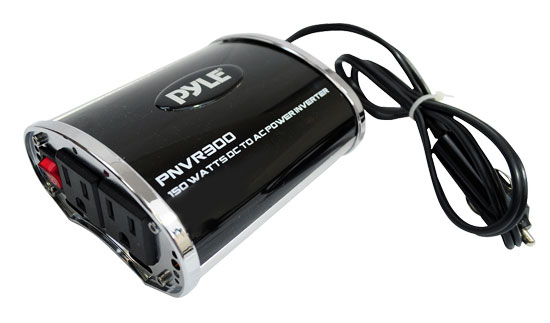Pyle - PNVR300 , On the Road , Power Supply, Surge Protectors, Converters , Plug In Car 300 Watts 12v DC to 115V AC power inverter with modified sine wave