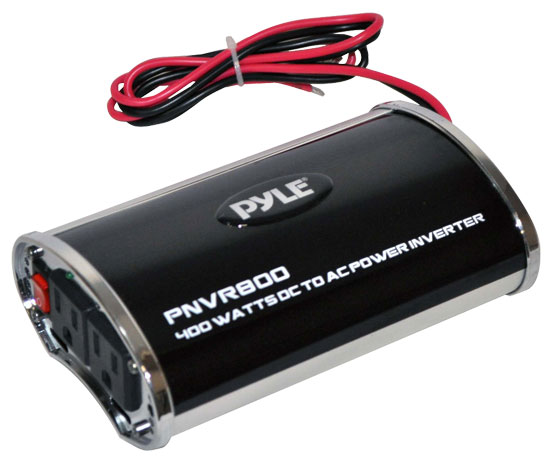 Pyle - PNVR800 , On the Road , Power Supply - Power Converters , Plug In Car 800 Watts 12v DC to 115V AC power inverter with modified sine wave