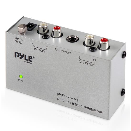 Pyle - PP444 , Home Audio / Video , Turntable Accessories , Ultra Compact Phono Turntable Preamp