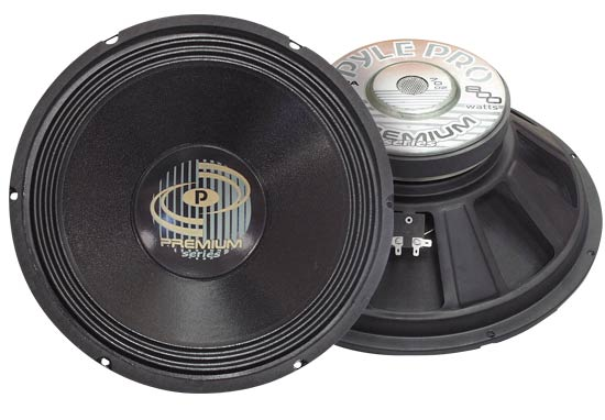 Pyle - PPA15 , Sound and Recording , Subwoofers - Midbass , 800 Watt Professional Premium PA 15'' Woofer