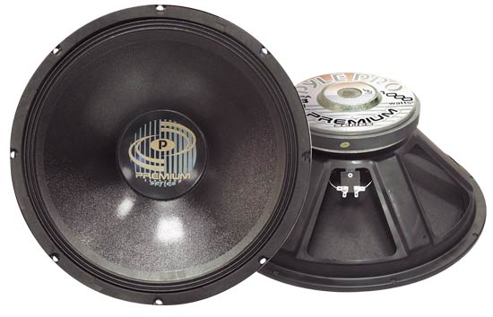 Pyle - PPA18 , Sound and Recording , Subwoofers - Midbass , 1000 Watt Professional Premium PA 18'' Woofer