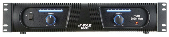Pyle - PPA300 , Sound and Recording , Amplifiers - Receivers , 19'' Rack 3000 Watt Professional DJ Power Amplifier