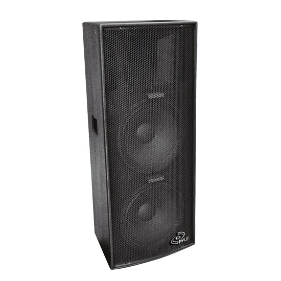 Pyle - PPAD122 , DJ Equipment , DJ Speakers , Dual 12'' Heavy Duty 3-Way Speaker Cabinet