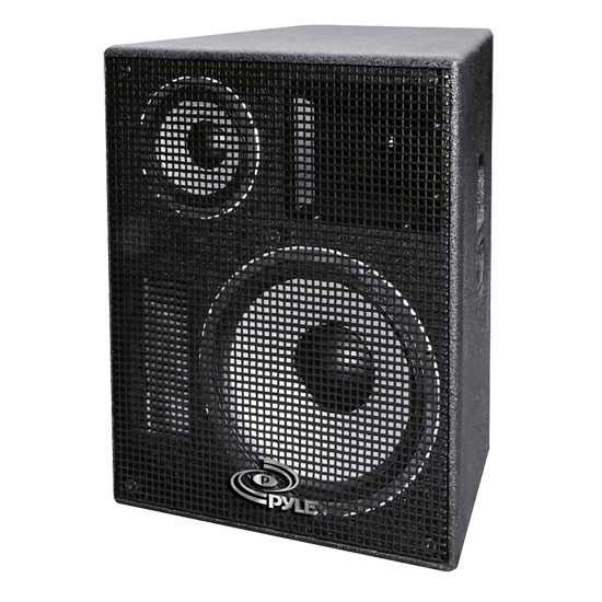 Pyle - PPADR128 , Sound and Recording , Studio Speakers - Stage Monitors , 12'' Heavy Duty 3-Way Stage Monitor Speaker Cabinet
