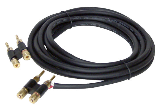 Pyle - PPBB15 , Sound and Recording , Cables - Wiring - Adapters , 15 Feet 12 Gauge Banana Plug To Banana Plug Speaker Cable