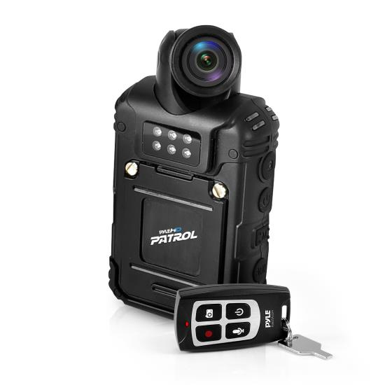 Pyle - PPBCM28 , Home and Office , Cameras - Videocameras , Gadgets and Handheld , Cameras - Videocameras , Rugged & Water Resistant HD Body Camera, Compact & Wireless Security Surveillance Police Cam - Audio & Video Recording, Night Vision, Rechargeable Battery, 32GB Memory, Hi-Res 1080p