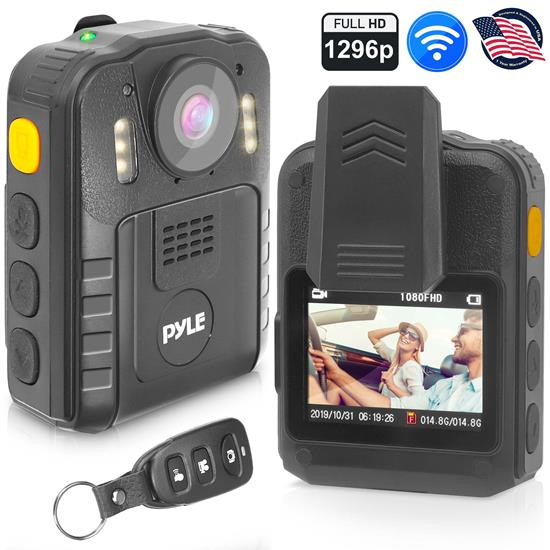 Pyle - PPBCM92 , Home and Office , Cameras - Videocameras , Gadgets and Handheld , Cameras - Videocameras , Compact & Portable HD Body Camera - Wireless Camera (Audio & Video Recording) Night Vision, Waterproof, Additional Micro SD Card Slots for Removable Memory, Includes Remote Control