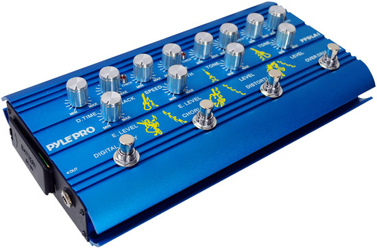 Pyle - PPDLA1 , Musical Instruments , Guitar Pedals , Super Guitar Multi-Effect Pedal With Overdrive, Distortion, Chorus, And Digital Delay