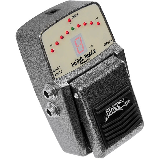 Pyle - PPDLT2 , Musical Instruments , Guitar Pedals , Guitar Tuning Pedal With Superb Accuracy