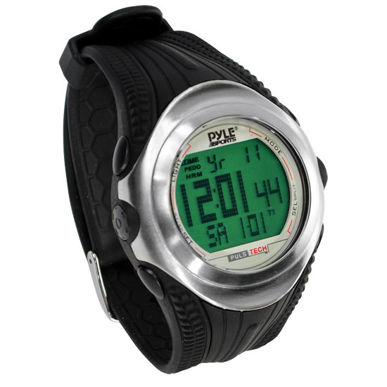 Pyle - PPDM1 , Sports and Outdoors , Watches , Gadgets and Handheld , Watches , Digital Heart Rate Monitor Watch With Chronograph, Pulse, And Pedometer