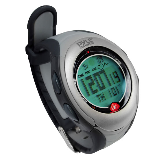 Pyle - PPDM2 , Sports & Outdoors , Sports Watches , Digital Biking/Running Watch With Bicycle Adaptor, Pulse, Chronograph, Pedometer