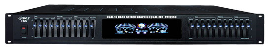 "Pyle - PPEQ150 , DJ Equipment , Equalizer / Crossover  , 19"" Rack Mount Dual 10 Band Stereo Graphic Equalizer"
