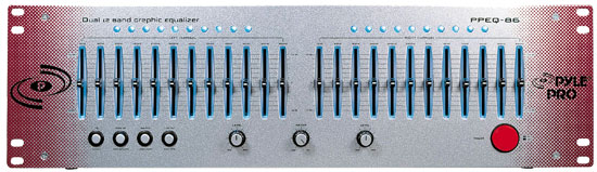Pyle - PPEQ86 , DJ Equipment , Equalizer / Crossover  , Dual Channel 12 Band Graphic Equalizer