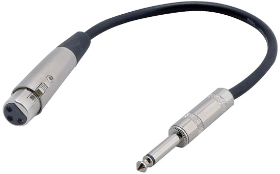 Pyle - PPFMXLR01 , DJ Equipment , Professional Audio Cables , 12 Gauge 6 Inch 1/4'' To XLR Female Cable