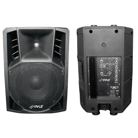 Pyle - PPHP106A , Sound and Recording , PA Loudspeakers - Molded Cabinet Systems , 600 Watts 10'' Powered 2 Way PA Speaker
