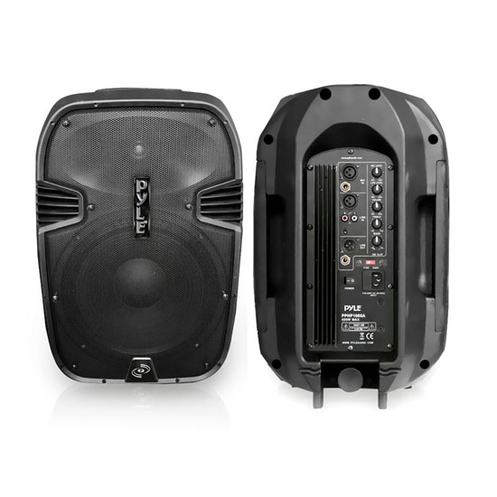 Pyle - PPHP1085A ,  , 600 Watts 10'' Powered 2 Way Plastic Molded Speaker System