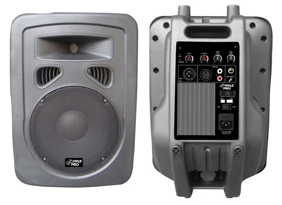 Pyle - PPHP1098A , DJ Equipment , DJ Speakers , 600 Watt 10'' 2-Way Plastic Molded Powered PA speaker System